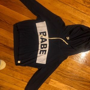 Tops - LA hearts Babe cropped hoodie